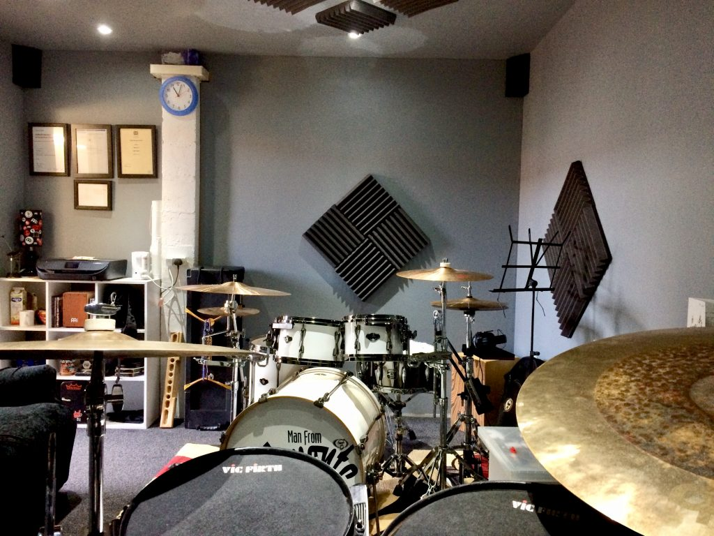 Custom Built Drum Lessons & Recording Studio